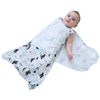 Adjustable 1.0 Tog Baby Swaddle Bag with 2-way Zipper